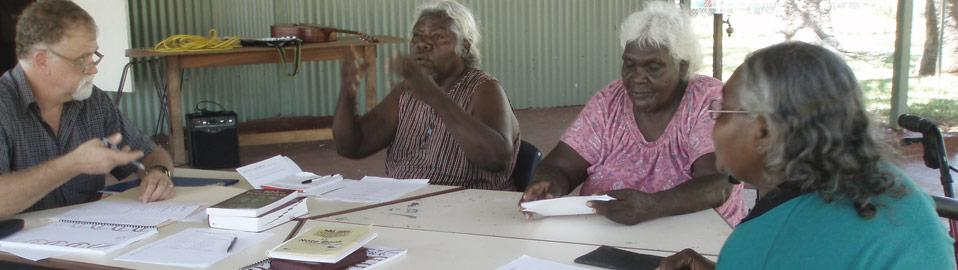 Worrorra language & song workshop. Mowanjum, West Kimberley