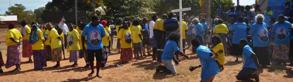Dedication of Gospel of Mark into Maung. Warruwi, West Arnhem Land.