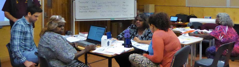 Pitjantjatjarra translators conference at Umawa, APY lands